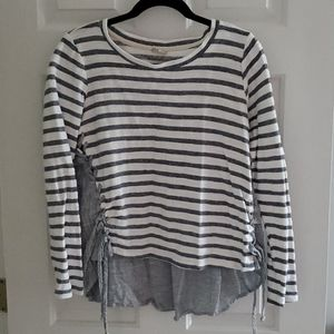 Striped & Laced Top